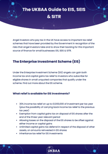 The UKBAA Guide to EIS, SEIS and SITR